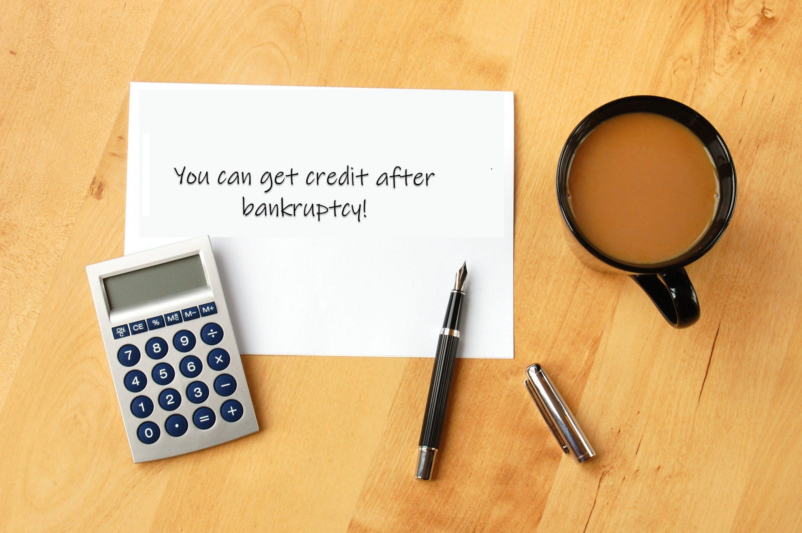 Get Credit After Bankruptcy